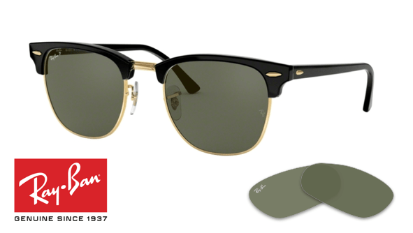 ahorrar 847c2 3f27e Ray-Ban 3016 Clubmaster Replacement Lenses