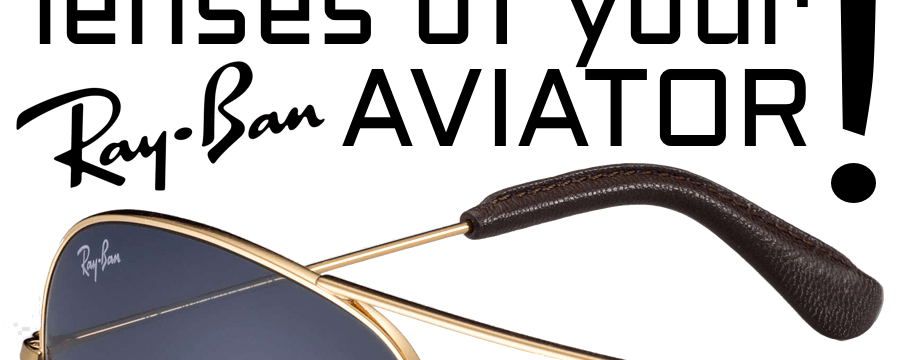 How to replace the Ray-Ban RB3025 Aviator Large Metal lenses?