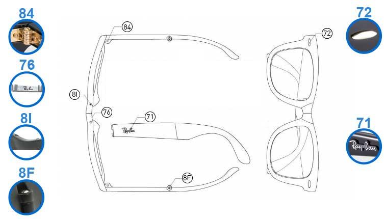 ray ban folding wayfarer case replacement