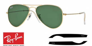 Patillas-Varillas Ray-Ban 3044 Originales