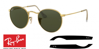 Ray-Ban 3447 Round Metal Replacement Arms-Temples