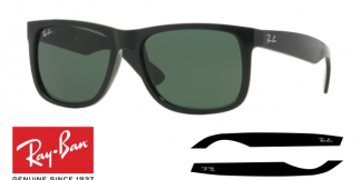 Patillas-Varillas Ray-Ban 4165 JUSTIN Originales