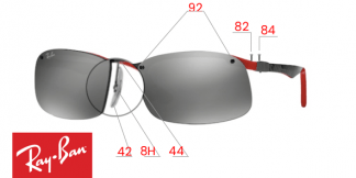 Ray-Ban 8314 Replacement parts