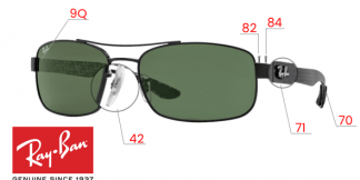 Ray-Ban 8316 Replacement parts