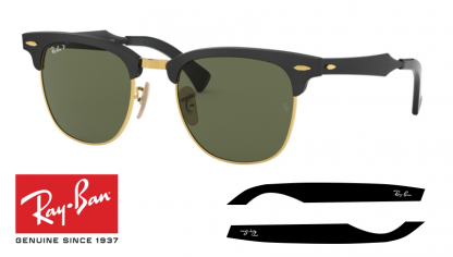 Original Ray-Ban 3507 CLUBMASTER ALUMINUM Replacement Arms-Temples