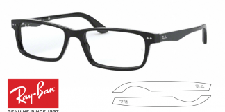 Ray-Ban 5277 Original Eyeglasses Replacement Arms-Temples