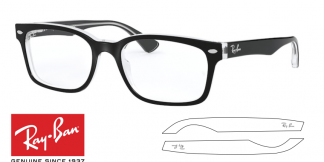 Original Ray-Ban Eyeglasses 5286 Replacement Arms-Temples