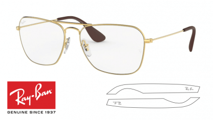 Ray-Ban 3610V Original Eyeglasses Replacement Arms-Temples