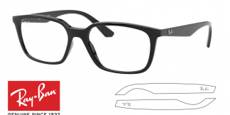 Original Ray-Ban Eyeglasses 7176 Replacement Arms-Temples