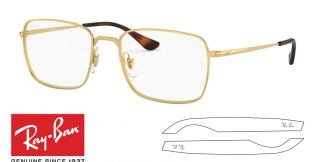 Original Ray-Ban Eyeglasses 6437 Replacement Arms-Temples