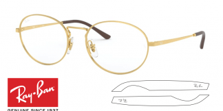 Original Ray-Ban Eyeglasses 6439 Replacement Arms-Temples