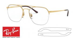 Original Ray-Ban Eyeglasses 6444 Replacement Arms-Temples