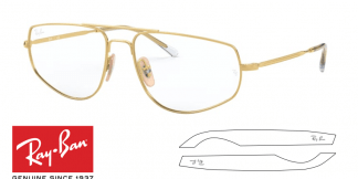 Original Ray-Ban Eyeglasses 6455 Replacement Arms-Temples