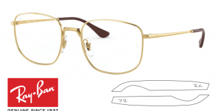 Original Ray-Ban Eyeglasses 6457 Replacement Arms-Temples