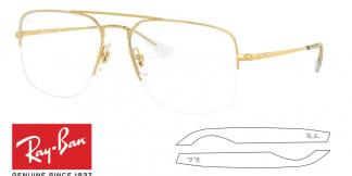 Original Ray-Ban Eyeglasses 6441 THE GENERAL GAZE Replacement Arms-Temples