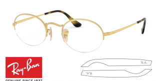 Original Ray-Ban Eyeglasses 6547 Oval Gaze Replacement Arms-Temples