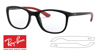 Ray-Ban Eyeglasses 7169 Original Replacement Arms-Temples