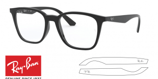 Original Ray-Ban Eyeglasses 7177 Replacement Arms-Temples