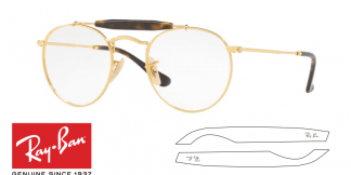 Ray-Ban Eyeglasses 3747V Original Replacement Arms-Temples