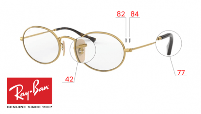 Ray-Ban 3547V OVAL Original Replacement Parts
