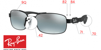Ray-Ban 8318CH Original Replacement Parts