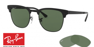 Ray-Ban 3716 CLUBMASTER METAL Replacement Lenses
