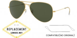 Ray-Ban 3026 AVIATOR LARGE METAL II Compatible Arms - Temples (NOT GENUINE) - HIGH QUALITY