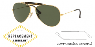 Ray-Ban 3029 Aviator Compatible Arms - Temples (NOT GENUINE) - HIGH QUALITY