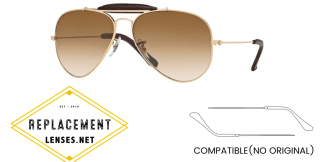 Ray-Ban 3422Q AVIATOR CRAFT Compatible Arms - Temples (NOT GENUINE) - HIGH QUALITY