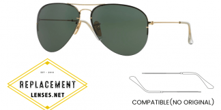 Ray-Ban 3460 AVIATOR FLIP OUT Compatible Arms - Temples (NOT GENUINE) - HIGH QUALITY