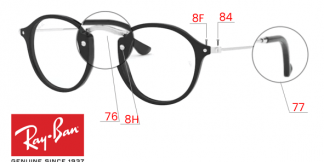 Ray-Ban 2447V ROUND Original Replacement Parts