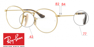 Ray-Ban 3447V ROUND METAL Original Replacement Parts