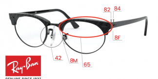 Ray-Ban 3946V CLUBMASTER OVAL Original Replacement Parts