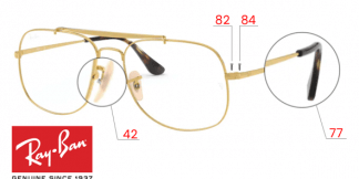 Ray-Ban 6389 THE GENERAL Original Replacement Parts